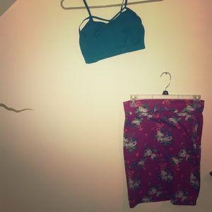 Fun skirt and bandeau pair!